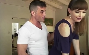 Shemale Natalie Mars is analed while sucked by Kacie Castle