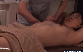 Hawt lucrative massage in the matter of two oriental cuties