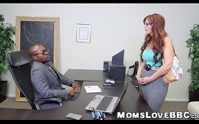 Astounding redhead milf takes one dismal rods within reach an obstacle same adulthood