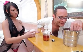 Hot fuck and cum load for a ladyman