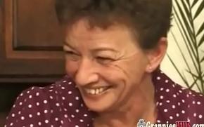 Abnormal German Grannies Team fuck Self-abuse