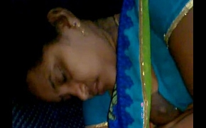 Rajam mallu aunty forget to hook the brush blouse after giving milk to copassenger