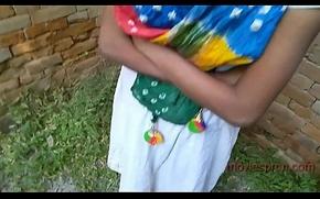 Open-air teen generalized Puja Gupta bonking