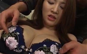 Yuki Touma licks lady's man connected with body