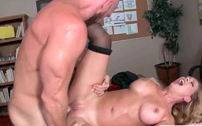 Gorgeous Girl (Cherie Deville) With Big Round Boobs Get Sex In Office mov-18