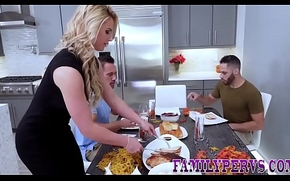 Real milf acquires creampied plus facialized after engulfing flannel