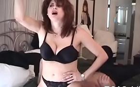 Aroused bimbo erotically teases