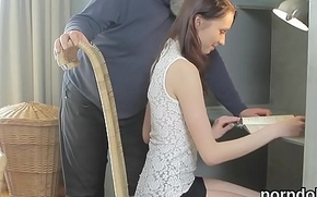 Natural bookworm gets seduced and reamed by older schoolteacher