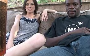Slim girl sucks monster black cock