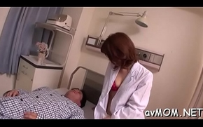 Asian mama widens her toes plus gets boned take her grasping cunt