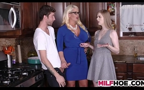 Stepdaughters Show one's age Gets Enticed By Mom